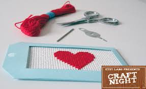 come craft with the etsy labs amh design needlepoint gift tags