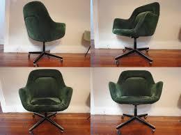 rare moss green knoll office chair eero saarinen arm shell chair