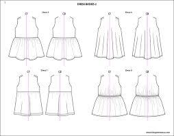 template for children clothing presentation kids illustrator flat