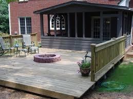 fire pit on wooden deck fire pit ideas