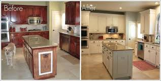 Painted White Kitchen Cabinets Before And After Furniture Kitchen Cabinets Painted White Before And After