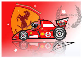 cartoon ferrari speedyhedz u0026 motorsport u2014 jake davis