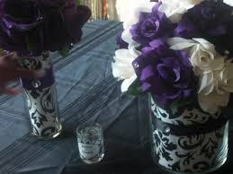 Black And Silver Centerpieces by Black White And Purple Centerpieces Google Search Purple