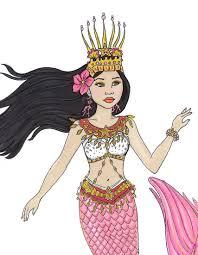 fashion coloring page fashion coloring page mermaid of cambodia fantasy coloring