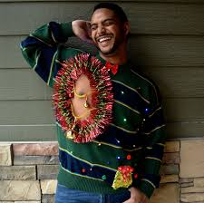 mens light up ugly christmas sweater balls ugly christmas sweater men s xl light up chest