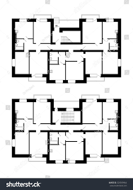 Floor Plan Blueprint Apartment House Floor Plans Unfurnished Apartments Stock Vector