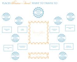 travel theme seating diagram assigned tables and seating each