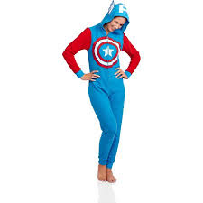 Captain Halloween Costume Captain America Women U0027s Licensed Sleepwear Onesie Costume