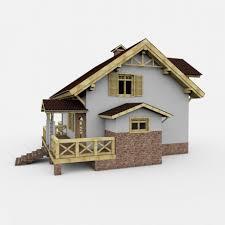 european houses alpine european house 3d model cgstudio