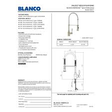 1 5 gpm kitchen faucet blanco 440558 meridian polished chrome pro pre rinse units kitchen