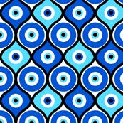 evil eye fabric wallpaper gift wrap spoonflower