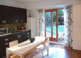 designs ideas small kitchen with dark cabinet and small table