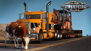 Oversize Load Flags American Truck Simulator Mini Excavators And Cows In The Road