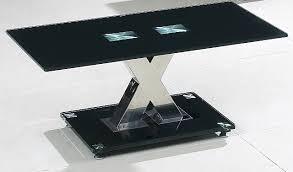 Black Glass Coffee Table Valente Black Glass Coffee Table Hl311
