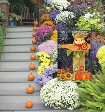 halloween yard flags outdoor fall garden flags flags on a stick