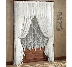 Ruffled Kitchen Curtains Curtains White Lace Swaghen Curtains Ruffled Sunflower Songbird