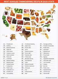 the most googled thanksgiving recipe in every state thanksgiving