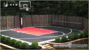 backyards splendid backyard basketball court outside basketball