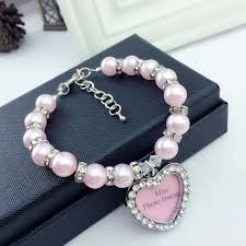 pearl necklace names images Mini heart photo frame pendant pet identity card collar dog cat jpg
