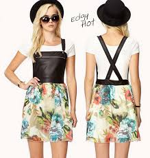edgy floral overall dress fashion wicked
