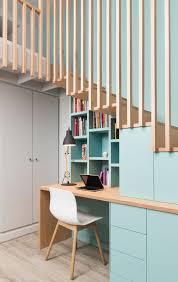 coin bureau design aménager un dessous d escalier en coin bureau minimaliste moderne