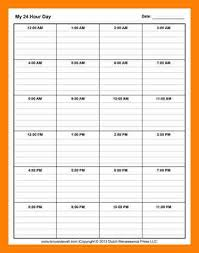 8 hourly schedule planner service letters