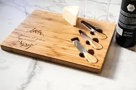 personalized cheese board personalized cheese board set custom cheese board set