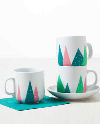 festive christmas tree mugs martha stewart