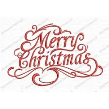 design embroidery merry christmas fancy script embroidery design in 3x3 4x4 and 5x7