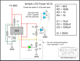 On Off Timer Circuit Diagram The Ad Lab Multiple Led Pulsing Via A 555 Timer