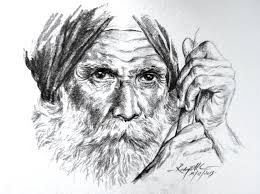 pencil drawing of man old man my pencil drawing by
