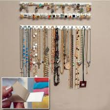 necklace storage display images 2016 new adhesive jewelry display hanging earring necklace ring jpg