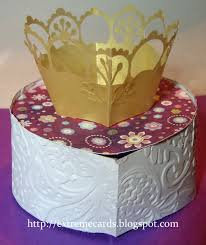 extreme cards and papercrafting 50th birthday pop up crown cake