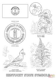 kentucky state symbols coloring page free printable coloring pages