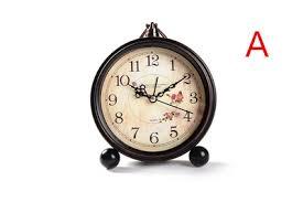 Small Desk Clock Creative Alarm Clock Silent Character Bedside Table Clock
