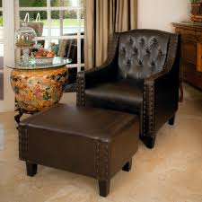 black leather club chair and ottoman amazing three posts chris leather club chair and ottoman reviews
