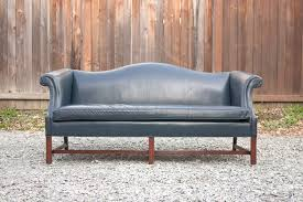 Blue Leather Sofa by Nice Camelback Leather Sofa With Camel Back Leather Sofa