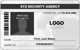 4 best ms word security guard id card templates microsoft word