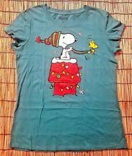 snoopy christmas t shirts snoopy t shirts for women ebay