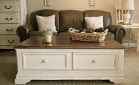 white end table with storage rectangle vintage wooden off white coffee table with basket storage