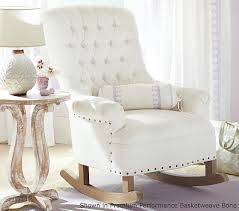 White Rocking Chair For Nursery Radcliffe Rocker Ottoman Pottery Barn