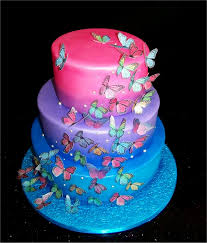 Beautiful Wedding Cakes With Butterflies With White Butterfly