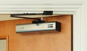 Overhead Door Closer Wireless Overhead Door Closer Satin Stainless Steel