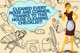 a complete house cleaning checklist for maid