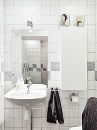 White And Gray Bathroom by Decordots Scandinavian Apartment With Stunning Kitchen