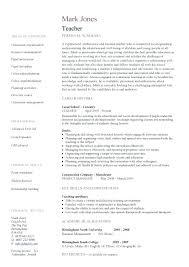 college teachers resume resume for a teacher u2013 inssite