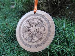 ultimate frisbee ornament