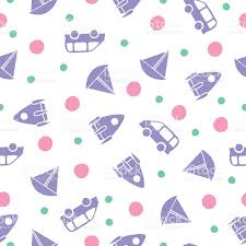 boy baby shower and wrapping paper seamless pattern vector stock