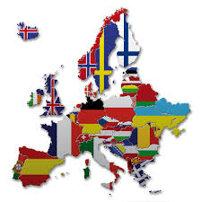 Western Europe Map by Map Flags