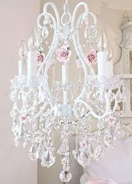 Chandelier Pink 5 Light Chandelier With Pink Porcelain Roses